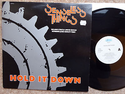 """Senseless Things Hold It Down 12"""" Ltd Edition Does Not Inc Poster Excellent Cond"""