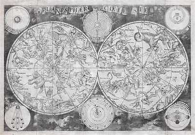 1680 De Wit Map of the Celestial Hemispheres (Stars and Constellations)