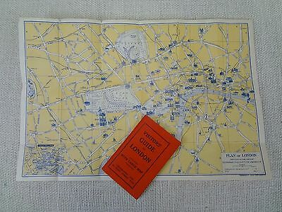Vintage Geographia Visitors' Guide London folding pictorial plan map c. 1950s