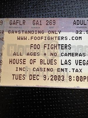 Foo Fighters Used Concert Ticket- Tues Dec 9 2003
