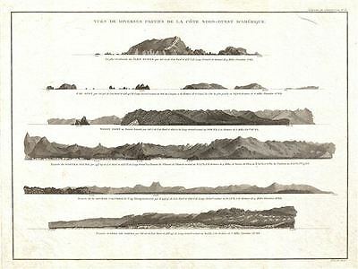 1799 Vancouver View of Nootka Sound, Cape Mendocino, Columbia River, etc.