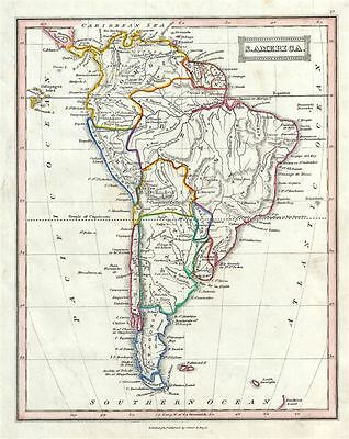 1845 Ewing Map of South America