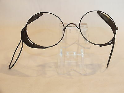 "Vintage 2"" Round Safety Glasses Non Prescription Steam Punk, Motorcycle"