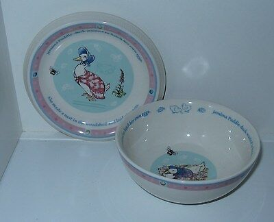 Wedgwood Jemima Puddle Duck Frederick Warne Bowl and Plate