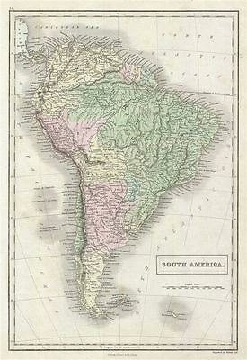 1851 Black Map of South America