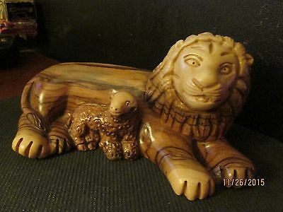 Carved Lion And Lamb??? Wood Or Resin?????