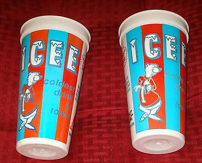 Vintage Time Saver Icee Bear Advertising Cup