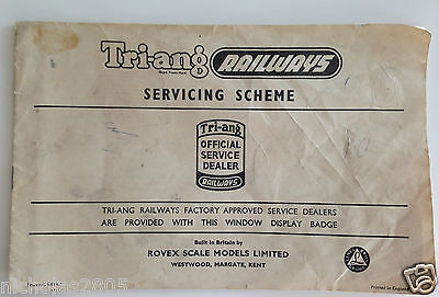 Tri-Ang Railways Rovex Servicing Scheme Booklet. 15Th Edition. Oo Gauge. Rare