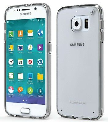 Puregear Clear Slim Shell Case Hard Transparent Cover For Samsung Galaxy S6