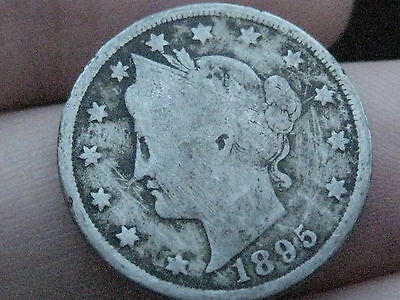 1895 Liberty Head V Nickel- Good/VG Obverse Details, Full Date