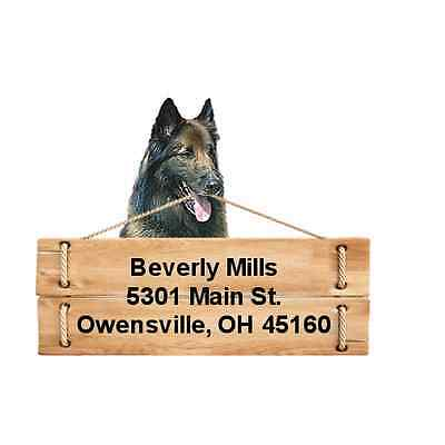 Belgian Tervuren return address labels DIE CUT TO SHAPE