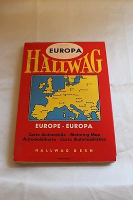 Vintage 1957 Hallwag Berne Europa Europe Map Printed in Switzerland New Edition