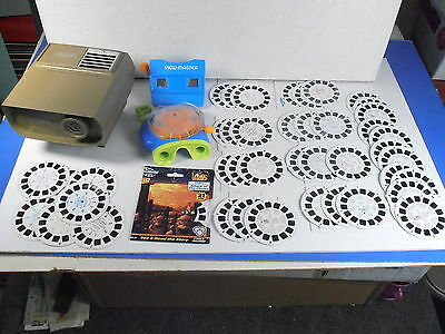 VIEWMASTER *PROJECTOR, 2 VIEWERS, & 40+ REELS LOT* w/9-3 REEL SETS*