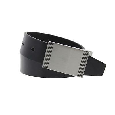 Steve Madden 5031 Mens Black Faux Leather Reversible Casual Belt 38 BHFO