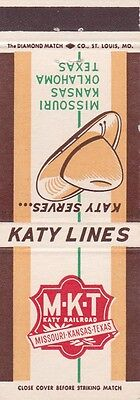 Katy Railroad Matchbook Cover.
