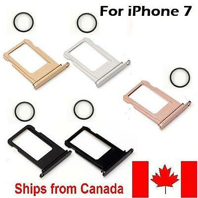 NEW METAL SIM CARD TRAY FOR iPhone 7 + Waterproof Ring Jet Black,Gold, Silver