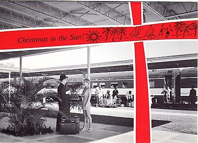 Illinois Central Rr Holiday Greeting Card - 12/1961