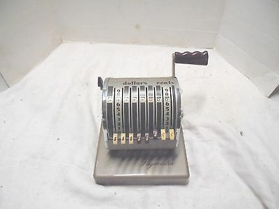 vintage paymaster hand crank check writing machine mohr's paint & paper