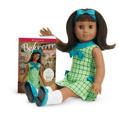 "NIB 2016 American Girl Melody Ellison 18"" Doll + ""Meet"" Outfit + Book"