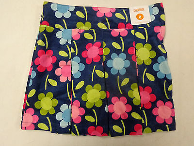 Nwt Gymboree Smart And Sweet Floral Corduroy Pleated Skort  Girls  Sz   8