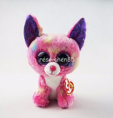 "Cancun Chihuahua Dog 6"" Ty Beanie Boos Pink Plush Stuffed Animals Girl Toys"