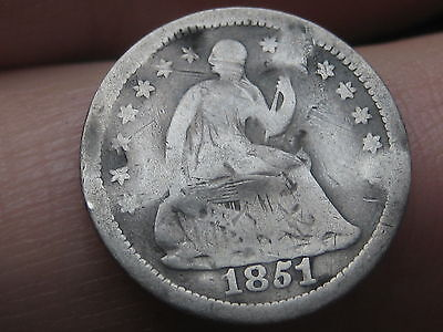1851 O Seated Liberty Half Dime- Old Type Coin