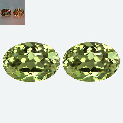 0.79Ct IF [2Pc] Matching Pair Oval Cut 5 x 4 mm Color Change Diaspore