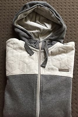 Reserved Men Zip Up Hooded Jacket Coat Grey Size S New