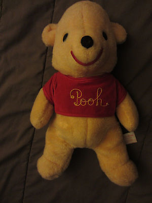 VINTAGE WINNIE The POOH Bear California Stuffed Toys Walt Disney Production 15""
