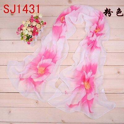 Glorious Flower  Loop  Long Soft  Scarf Wrap Shawl Stole for Cool Women SJ1431