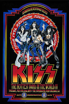 KISS * ReUnion Tour Poster * 1996 at New Orleans Concert Poster 13x19