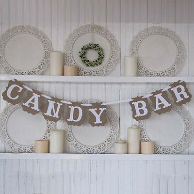 Hot Wedding Banner Candy Bar Card Sign Bunting Banner Birthday Party Decoration