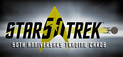 Star Trek 50th Anniversary ~ 100-Card Base Set, Case Topper & Binder