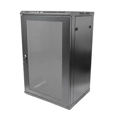 "Titan AV Premium 19"" 18RU Wall Mount Server Rack Data Cabinet 500mm Deep"