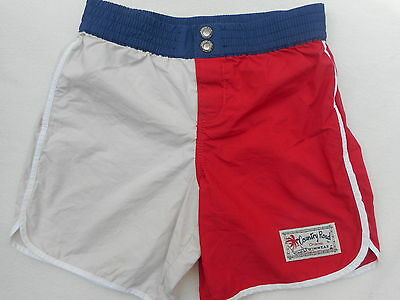 COUNTRY ROAD size 6 boys navy, red & tan board shorts