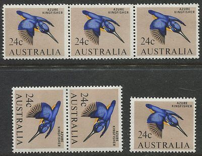 1966 Birds 24c Azzure Kingfisher - Selection of 6 Stamps  MUH