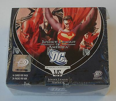 Upper Deck Dc Vs System Justice League Of America 24 Pack Booster Box New Sealed