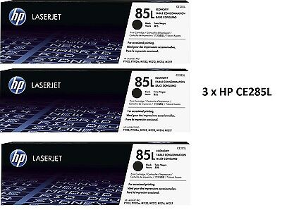 3 X HP 85L Black Original LaserJet Toner Cartridge CE285L 700 page yield VAT inc