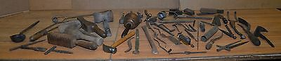 Antique foundry tool lot sand mold metal working industrial blacksmith forge