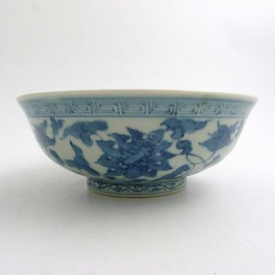 Chinese Blue And White Porcelain Chenghua Style Bowl With Kangxi Mark