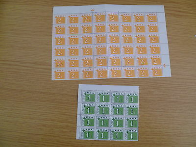 South Africa Postage Due blocks (folded along perf)  MNH Cat value £40+ Ref TB2
