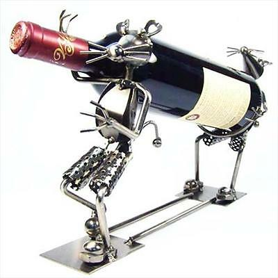 Primo Tech C-94161 Double Mice Stealing Wine Hand Made Wine Holder