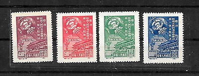 China VR North East,  1949  C.1, MiNr. 143-146II, unused, no gum as published