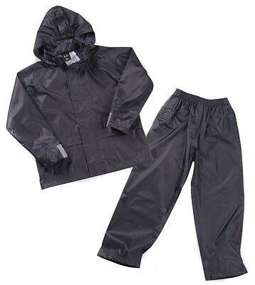 Childrens Boys Waterproof Coat Trouser Set Ideal For Camp 3-4 to 9-10 Years