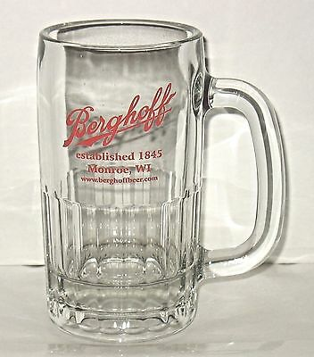 Berghoff Glass Beer Mug Monroe Wisconsin