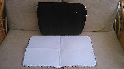 Mothercare Messenger Style Baby Changing Bag Black VGC