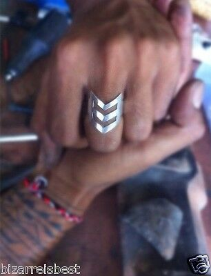 DON BIU Unisex Chevron Ring Solid Sterling Silver Rings Mens Womens Man Ring