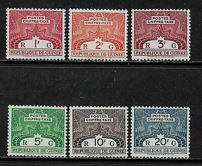 Guinea J42-7 Mint Never Hinged Complete Set - Postage Dues