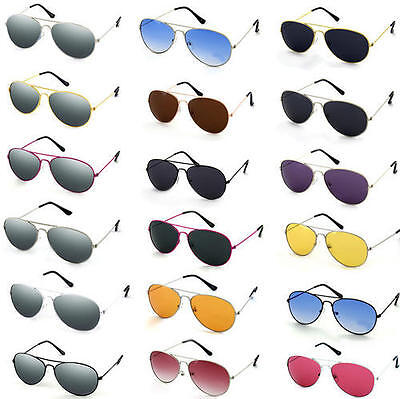 New Aviators Sunglasses Fashion 80s Retro Designer Shades Mens Womens Ladies