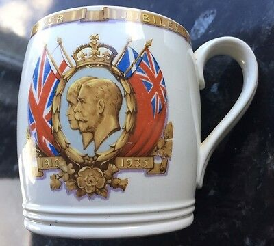 Copeland Spode Commemorative Mug Silver Jubilee George V & Queen Mary 1910-1935